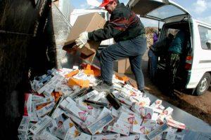 Közel 90 milliós csempész cigaretta fogás Zalában