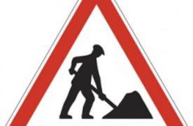 Félpályás útlezárás aszfaltozási munkák miatt Tatárszentgyörgy belterületén