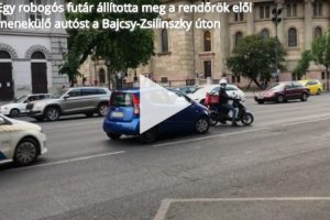 Pizzafutár állította meg az ámokfutó autóst Budapesten