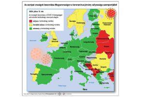 Koronavírus országtérkép