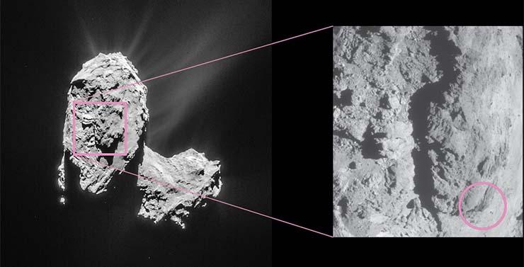 UV-fény ragyog a 67P/Csurjumov-Geraszimenko üstökösön